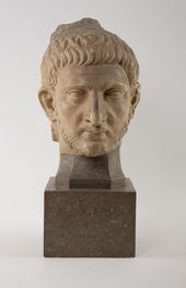 Head of a Roman. Fragment of relief Ancient Rome (?), early 2nd century AD