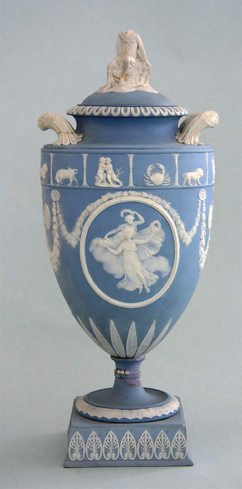 Vase decorated with zodiac signs. England Wedgwood. 1800s