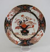 Plate in the Imari style. Arita, Japan. Early 18th century