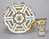 Drinking cup and dish. Russia, Veliky Ustyug. 18th century