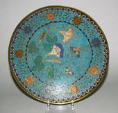 Plate with a decorative pattern of ivy offshoots. China. 19th century