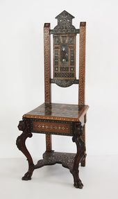 Chair in the style of the Italian Renaissance. Western Europe. Second half of 19th century
