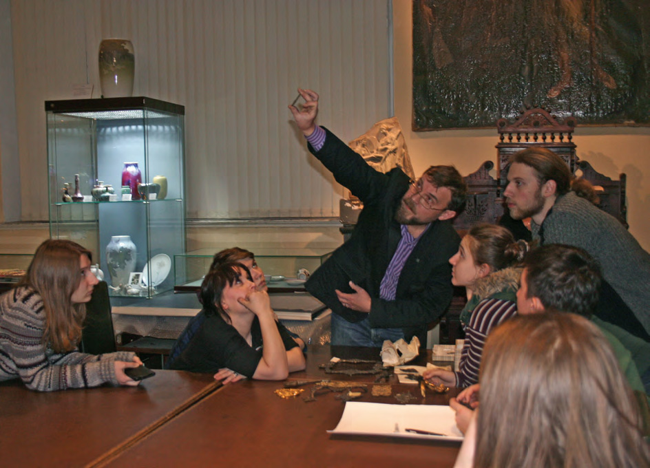 Students during class at the Stroganov Academy of Design and Applied Arts Museum