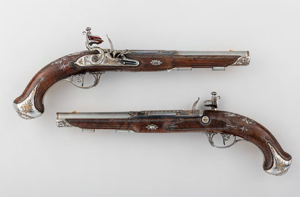 TULA ARMS FACTORY. Pair of Flintlock Pistols made for Grand Duke Konstantin Pavlovich (1779-1831). 1801
