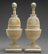 Nikolai Stepanovich VERESHCHAGIN. Pair of Ivory Vases. c. 1795-1800