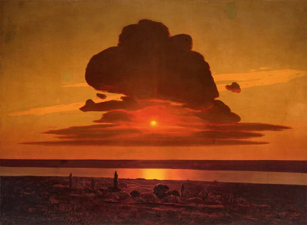 Arkhip KUINDZHI. Red Sunset on the Dnieper. 1905-1908
