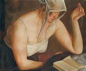 Boris GRIGORIEV. Woman Reading. c. 1922