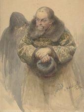 Klavdii LEBEDEV. Two Russian Men. 1904