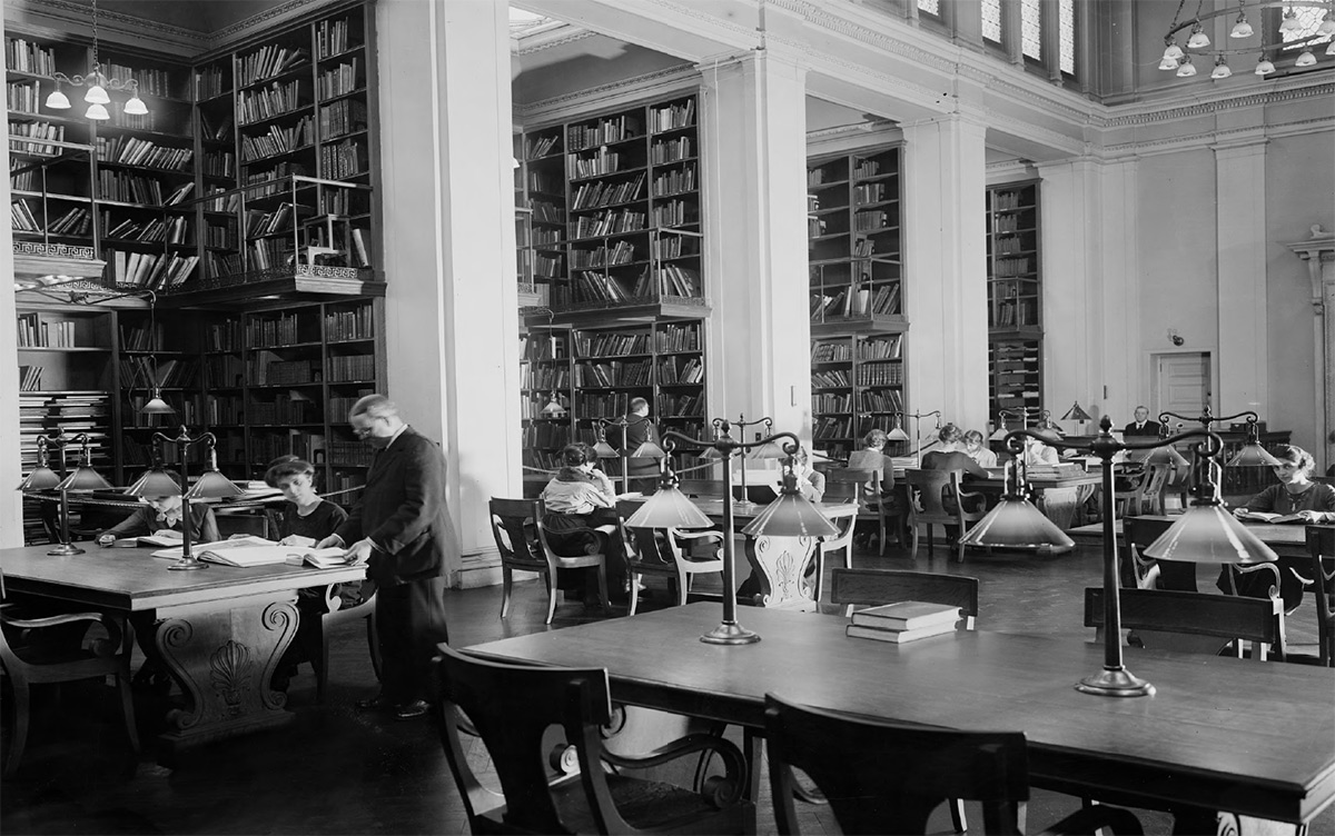 Reading room of the Metropolitan Museum of Art Library