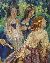 Viktor BORISOV-MUSATOV. The Emerald Necklace. 1903–1904. Detail