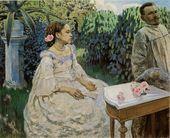 Viktor BORISOV-MUSATOV. Self-portrait with sister. 1898