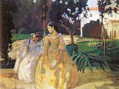 Viktor BORISOV-MUSATOV. Tapestry. 1901