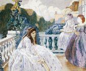 Viktor BORISOV-MUSATOV. At the terrace. 1903