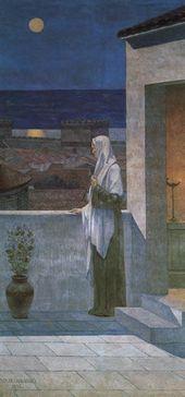 Pierre Puvis de CHAVANNES. Saint Genevieve Keeping Watch over Sleeping Paris. 1898