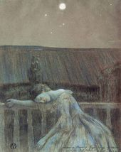 Viktor BORISOV-MUSATOV. Loneliness. (Sorrow). 1903