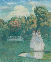 Viktor BORISOV-MUSATOV. The Park Plunges into the Shadows. 1904