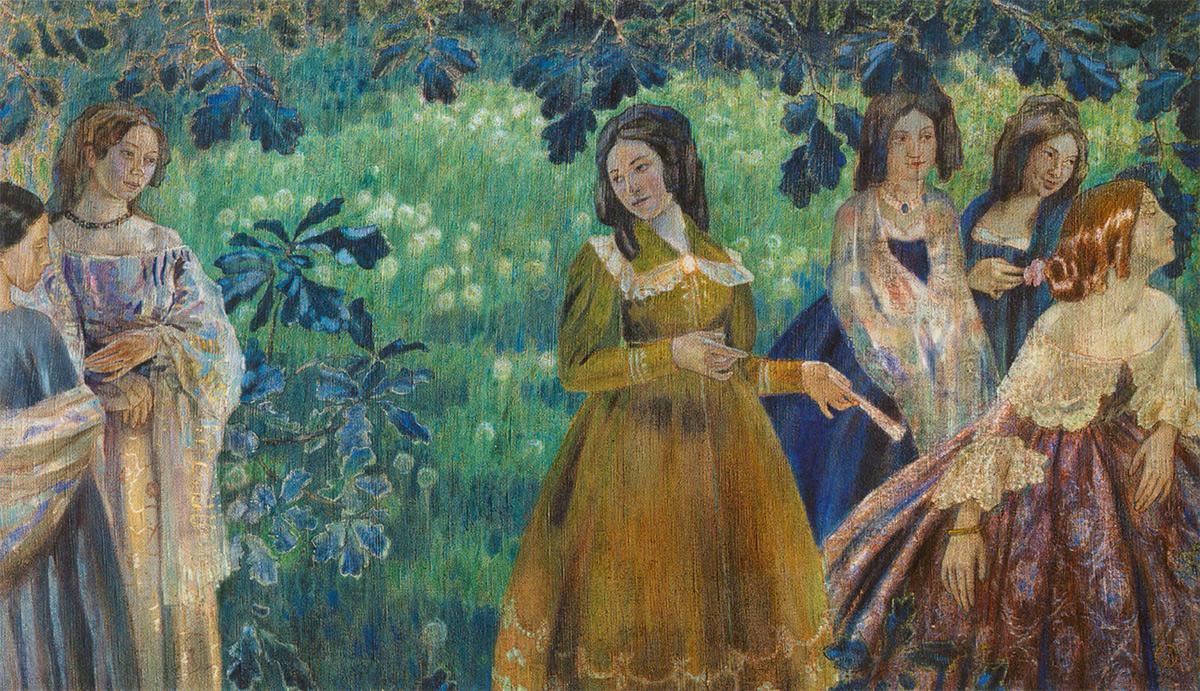 Viktor BORISOV-MUSATOV. The Emerald Necklace. 1903-1904