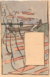 Viktor BORISOV-MUSATOV. Untitled (Sketch). Detail. 1895
