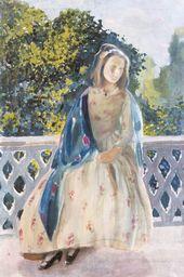 Viktor BORISOV-MUSATOV. Girl at the Balcony. 1900