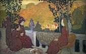 "Maurice DENIS. September Night. From the cycle of decorative panels ""Seasons"". 1891"