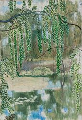 Viktor BORISOV-MUSATOV. Branches of Weeping Willow. Late 19th - beginning of the 20th century