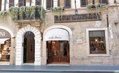 Entrance of the Antico Caffè Greco, Via Condotti, Rome. 2019