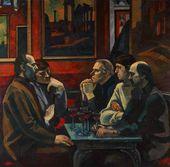 Viktor IVANOV. At the Caffè Greco. 1974