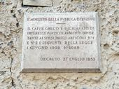 Commemorative plaque, Caffè Greco