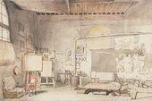 Alexander IVANOV. Alexander Ivanov's studio in Rome. c. 1840