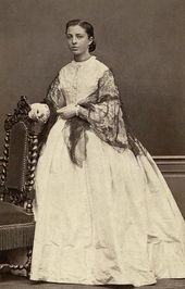 Zinaida Yakunchikova. Photograph. Early 1860s