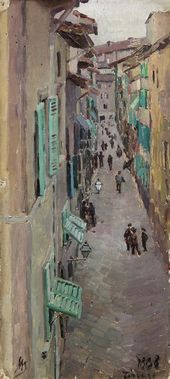 A Street in Florence. 1888