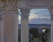 From the Window of the Old House. Vvedenskoye. 1897