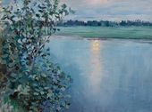 River at Sunset. Early 1890s