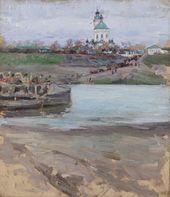 Tarusa Ferry. 1893