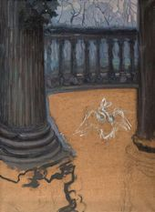Columns. Balcony and Sketch of a Swan. 1890s