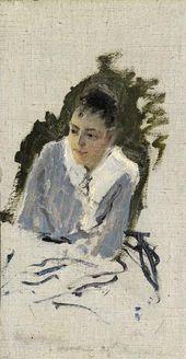 Konstantin KOROVIN. Portrait of Maria Yakunchikova. 1888