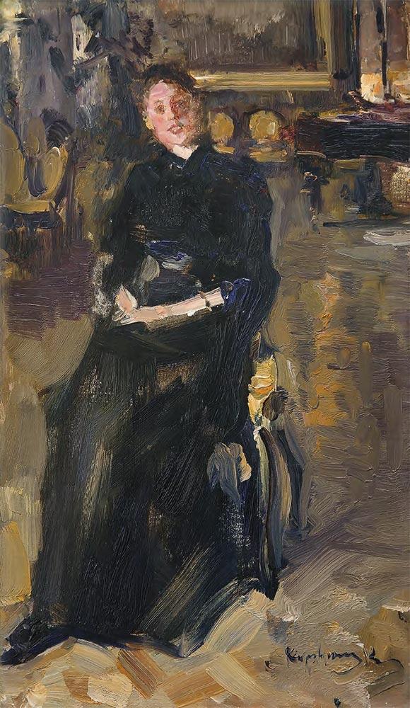 Konstantin KOROVIN. Portrait of Maria Yakunchikova. 1880s