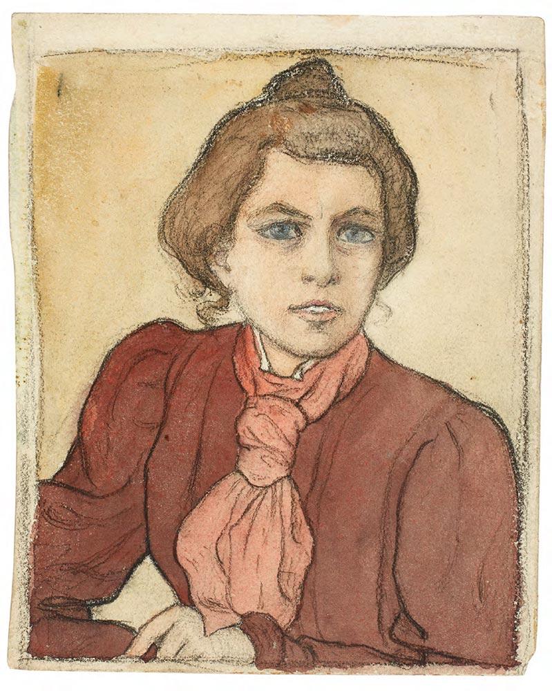 Yelizaveta KRUGLIKOVA. Self-portrait. Second half of 1890s