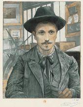Eugène DELÂTRE. Self-portrait. About 1894