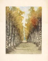 Yelizaveta KRUGLIKOVA. Birch Avenue. Russia. 1907