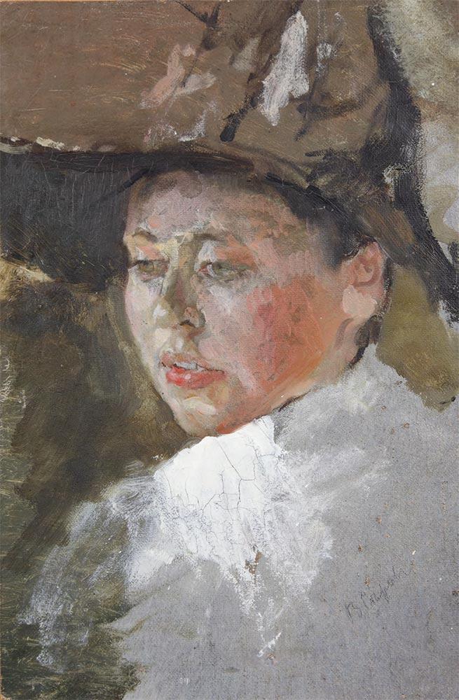 Valentin SEROV. Portrait of the Artist Maria Vasilievna Yakunchikova. 1887