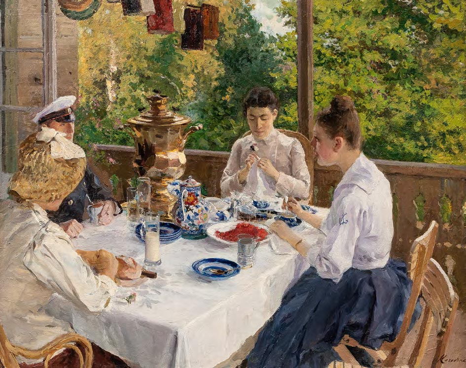 Konstantin KOROVIN. At the Tea Table. Sketch. 1888