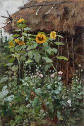 Yelena POLENOVA. Sunflowers. Sketch. 1885