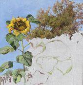 Maria YAKUNCHIKOVA. Sunflower. Sketch. 1880s-1900s