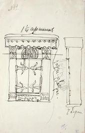 Yelena POLENOVA. Cabinet. Sketch. 1885–1892