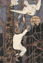 Yelena POLENOVA. A Boy on a Tree. 1890s