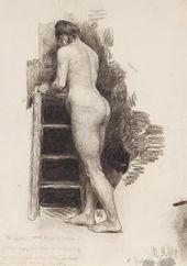 Maria YAKUNCHIKOVA. Nude Model from the Back. 1889