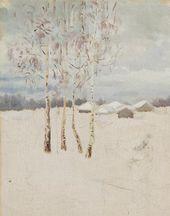 Maria YAKUNCHIKOVA. Trees in Winter. 1890s