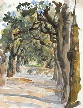Yelena POLENOVA. Avenue in the Monte Pincio Park. 1895