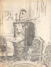 Maria YAKUNCHIKOVA. Interior. Late 1880s